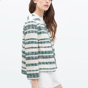 Zara striped blazer. New
